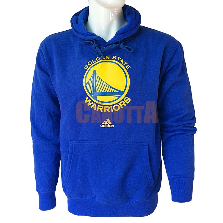 Replica Felpe Con Cappuccio NBA Golden State Warriors Blu City