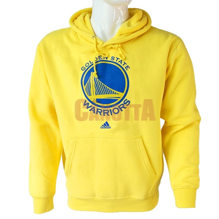 Replica Felpe Con Cappuccio NBA Golden State Warriors Giallo City