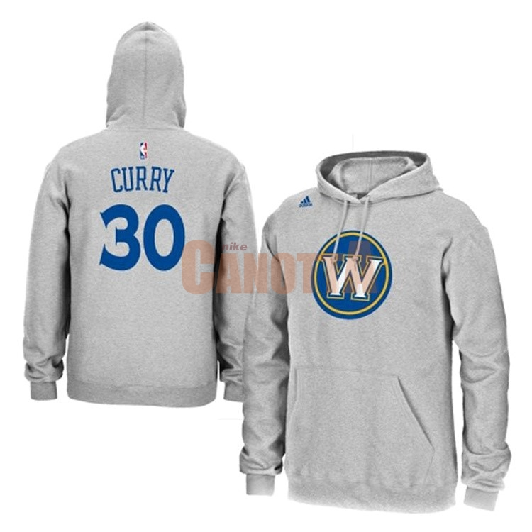 Replica Felpe Con Cappuccio NBA Golden State Warriors NO.30 Stephen Curry Grigio