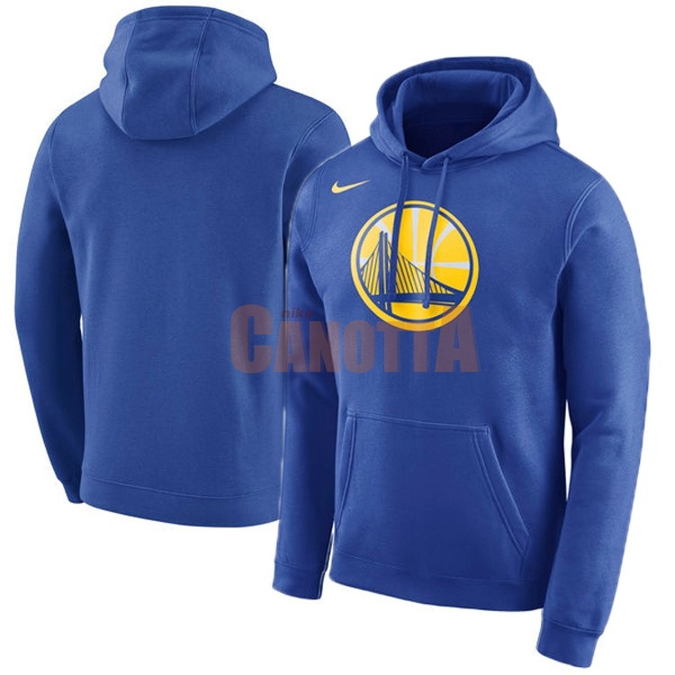 Replica Felpe Con Cappuccio NBA Golden State Warriors Nike Blu