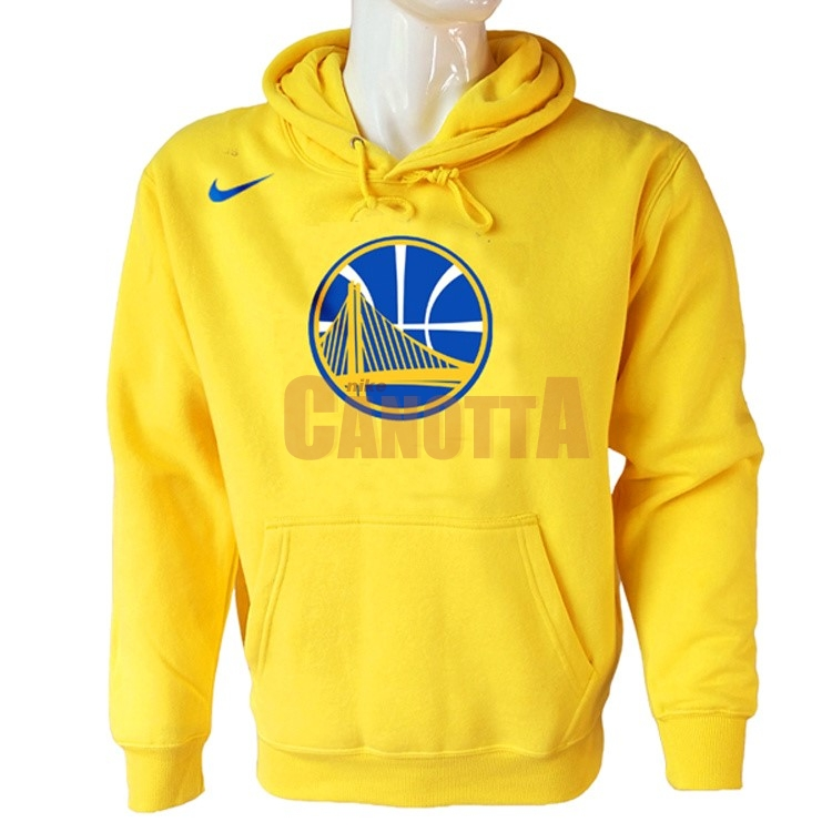 Replica Felpe Con Cappuccio NBA Golden State Warriors Nike Giallo