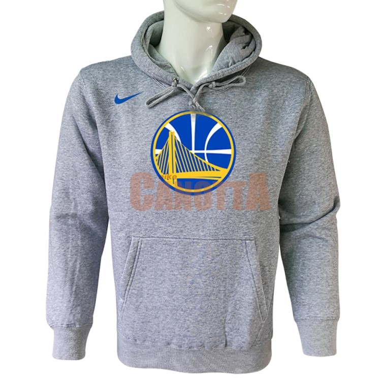 Replica Felpe Con Cappuccio NBA Golden State Warriors Nike Grigio