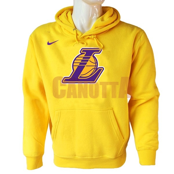 Replica Felpe Con Cappuccio NBA Los Angeles Lakers Nike Giallo