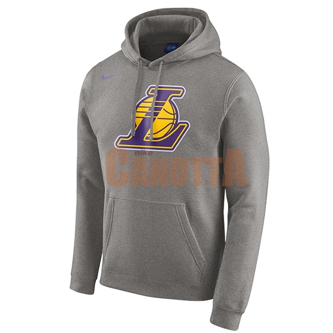 Replica Felpe Con Cappuccio NBA Los Angeles Lakers Nike Grigio