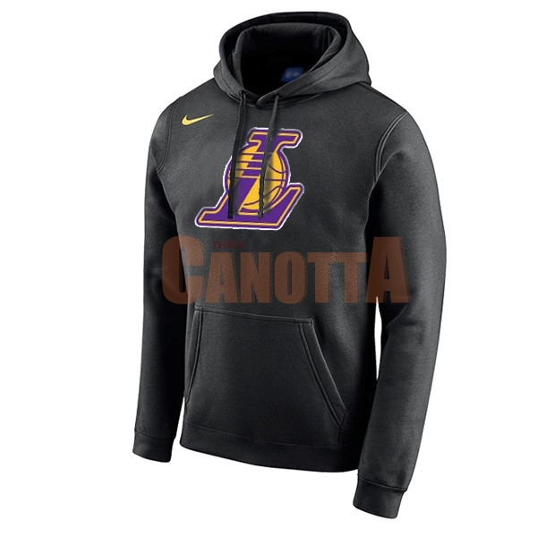 Replica Felpe Con Cappuccio NBA Los Angeles Lakers Nike Nero