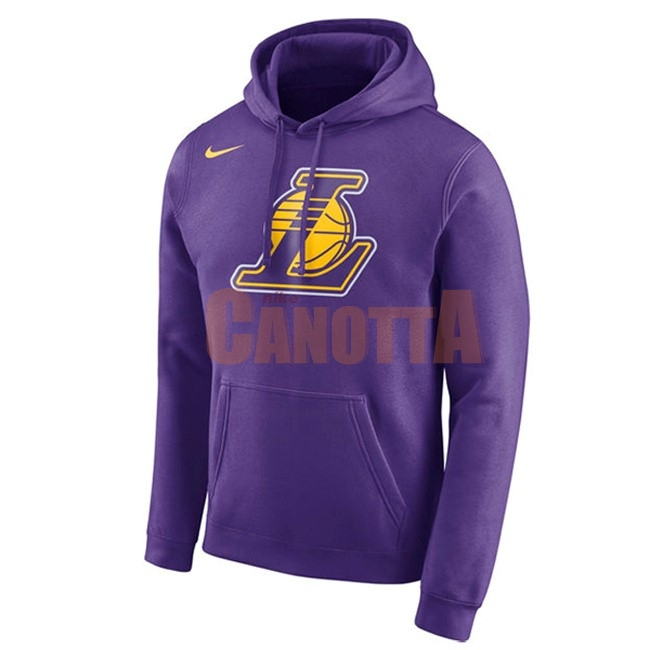 Replica Felpe Con Cappuccio NBA Los Angeles Lakers Nike Pupura