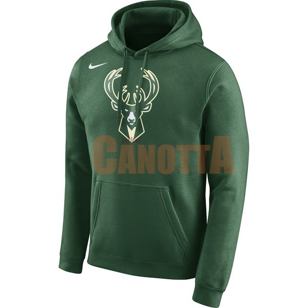 Replica Felpe Con Cappuccio NBA Milwaukee Bucks Nike Verde
