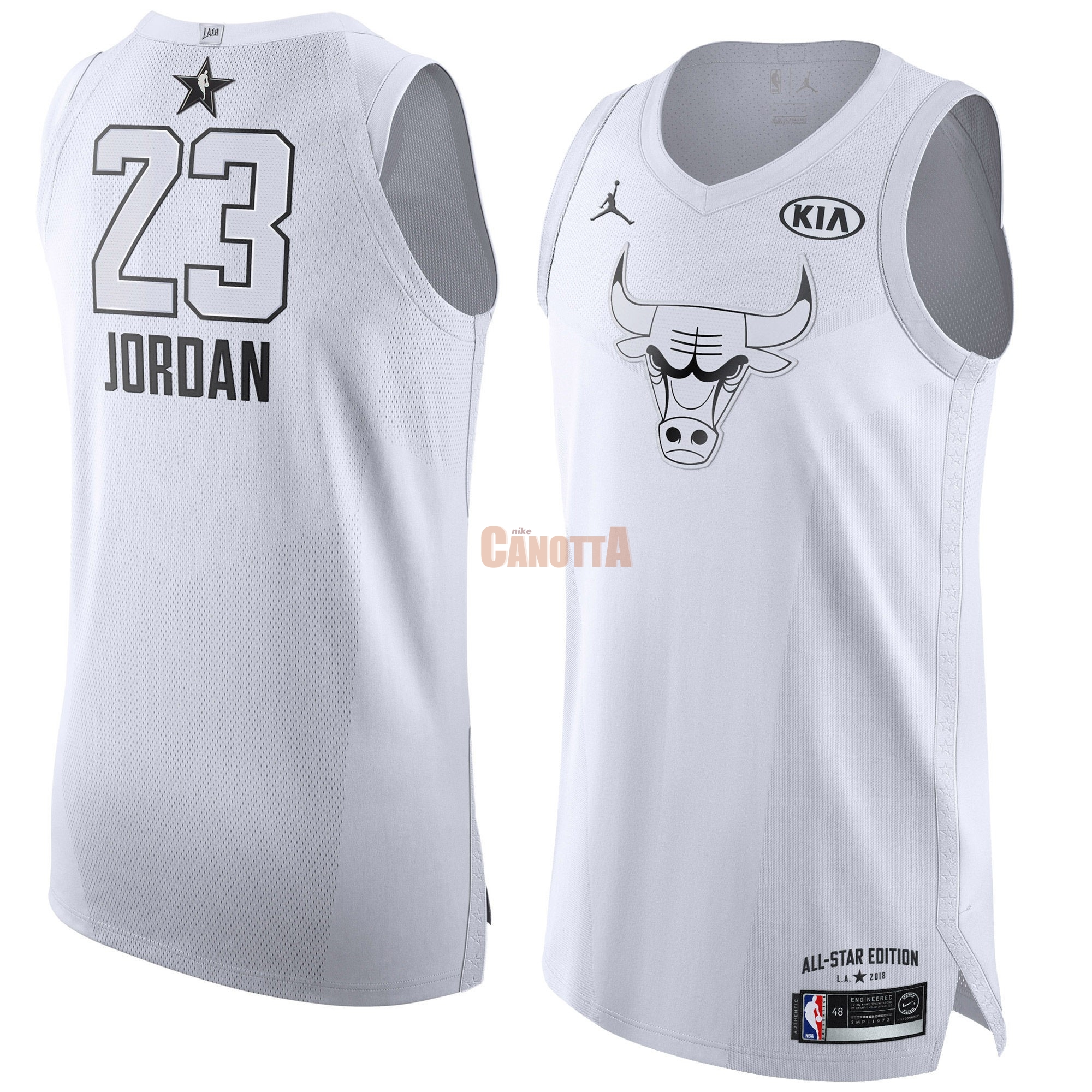Replica Maglia NBA 2018 All Star NO.23 Michael Jordan Bianco