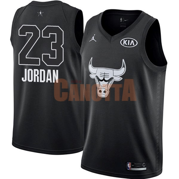 Replica Maglia NBA 2018 All Star NO.23 Michael Jordan Nero