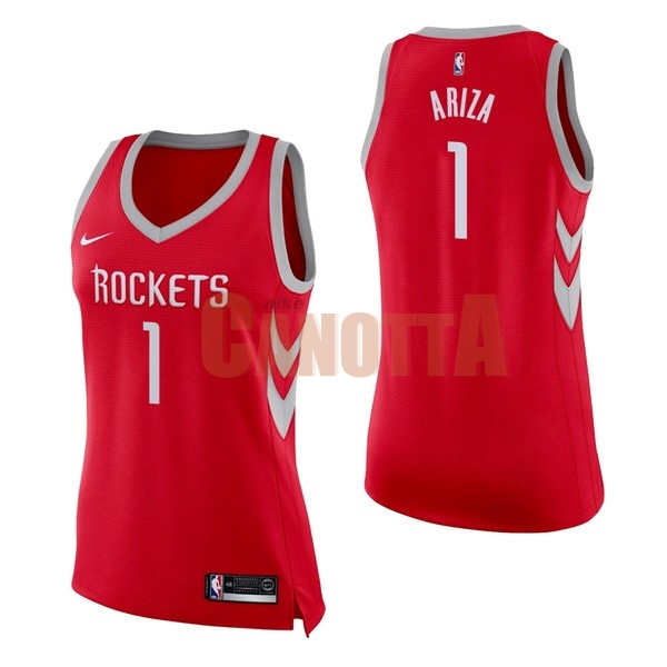 Replica Maglia NBA Donna Houston Rockets NO.1 Trevor Ariza Rosso Icon