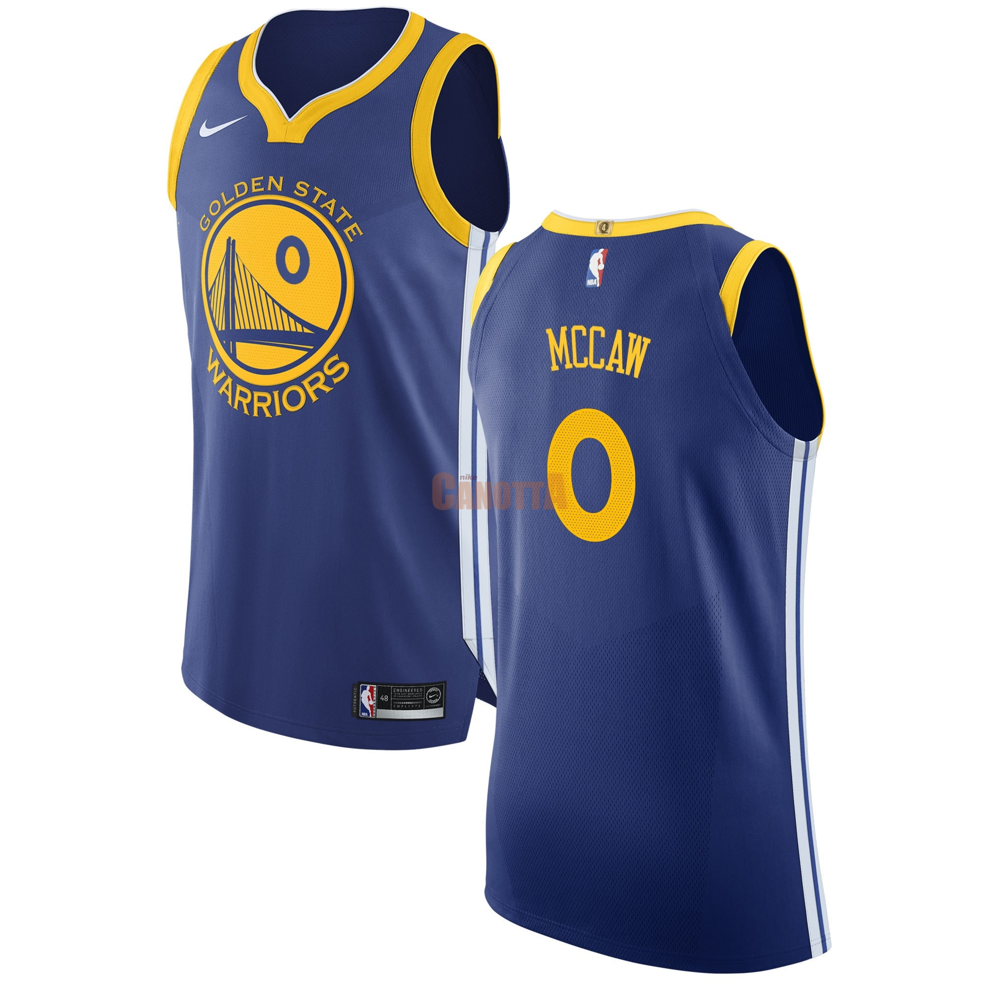 Replica Maglia NBA Nike Golden State Warriors NO.0 Patrick McCaw Blu Icon
