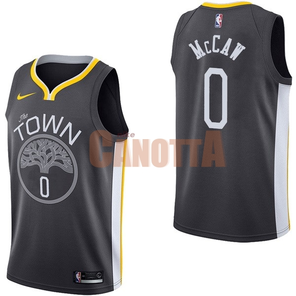 Replica Maglia NBA Nike Golden State Warriors NO.0 Patrick McCaw Nero Statement