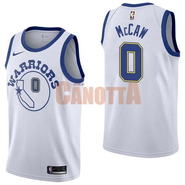 Replica Maglia NBA Nike Golden State Warriors NO.0 Patrick McCaw Nike Retro Bianco