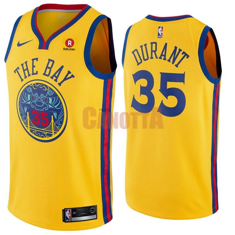 Replica Maglia NBA Nike Golden State Warriors NO.35 Kevin Durant Giallo  Città e8eaed77de92