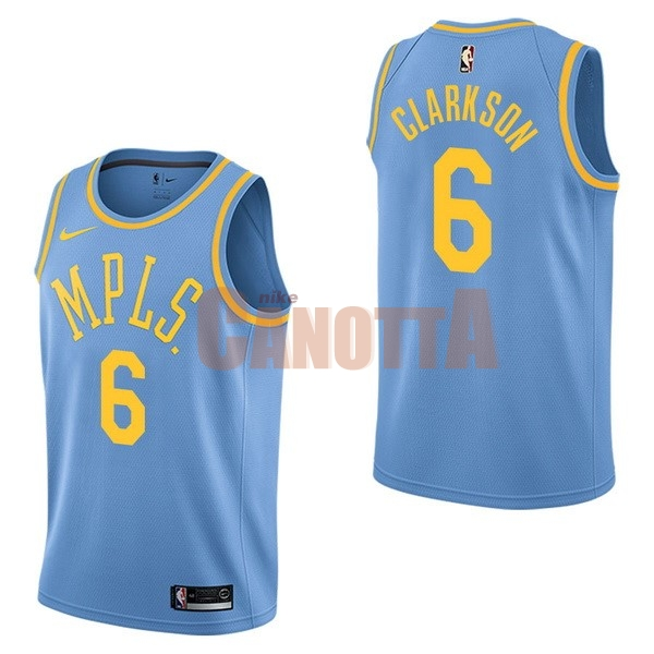 Replica Maglia NBA Nike Los Angeles Lakers NO.6 Jordan Clarkson Retro Blu 577537aca9b9