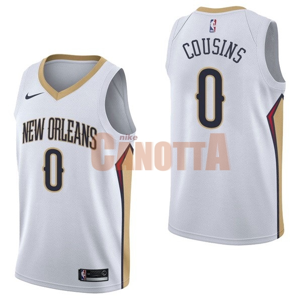 Replica Maglia NBA Nike New Orleans Pelicans NO.0 DeMarcus Cousins Bianco Association
