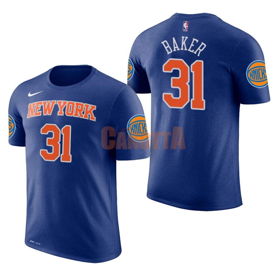 Replica Maglia NBA Nike New York Knicks Manica Corta NO.31 Ron Baker Blu