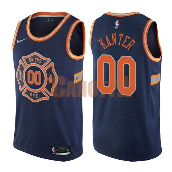 Replica Maglia NBA Nike New York Knicks NO.0 Enes Kanter Nike Blu Città