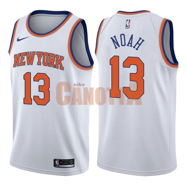 Replica Maglia NBA Nike New York Knicks NO.13 Joakim Noah Bianco Association