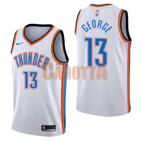 Replica Maglia NBA Nike Oklahoma City Thunder NO.13 Paul George Bianco Association