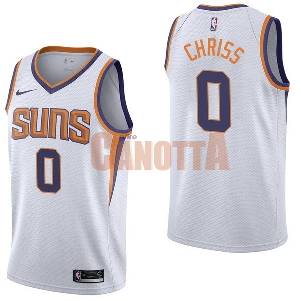 Replica Maglia NBA Nike Phoenix Suns NO.0 Marquese Chriss Bianco Association