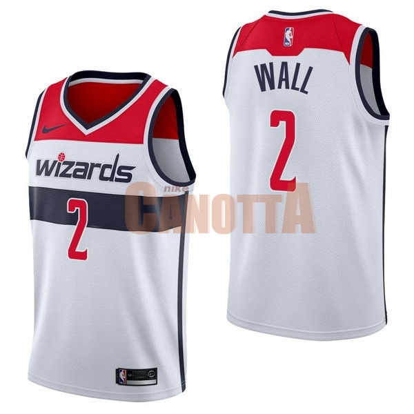 Replica Maglia NBA Nike Washington Wizards NO.2 John Wall Bianco Association