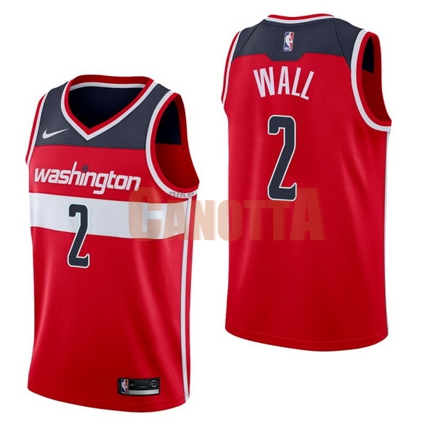 Replica Maglia NBA Nike Washington Wizards NO.2 John Wall Rosso Icon