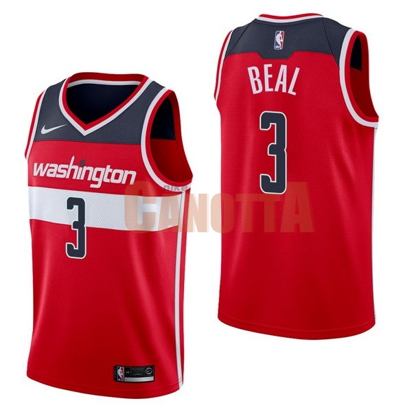 Replica Maglia NBA Nike Washington Wizards NO.3 Bradley Beal Rosso Icon