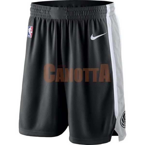 Replica Pantaloni Basket Brooklyn Nets Nike Grigio