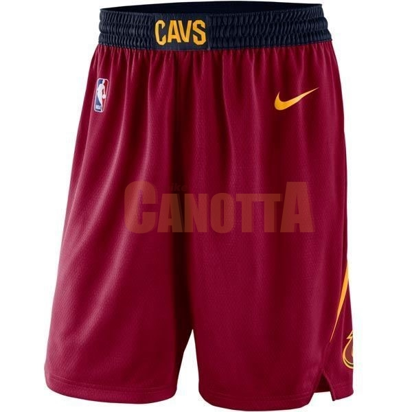 Replica Pantaloni Basket Cleveland Cavaliers Nike Rosso