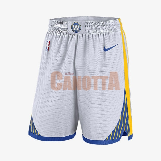 Replica Pantaloni Basket Golden State Warriors Nike Bianco