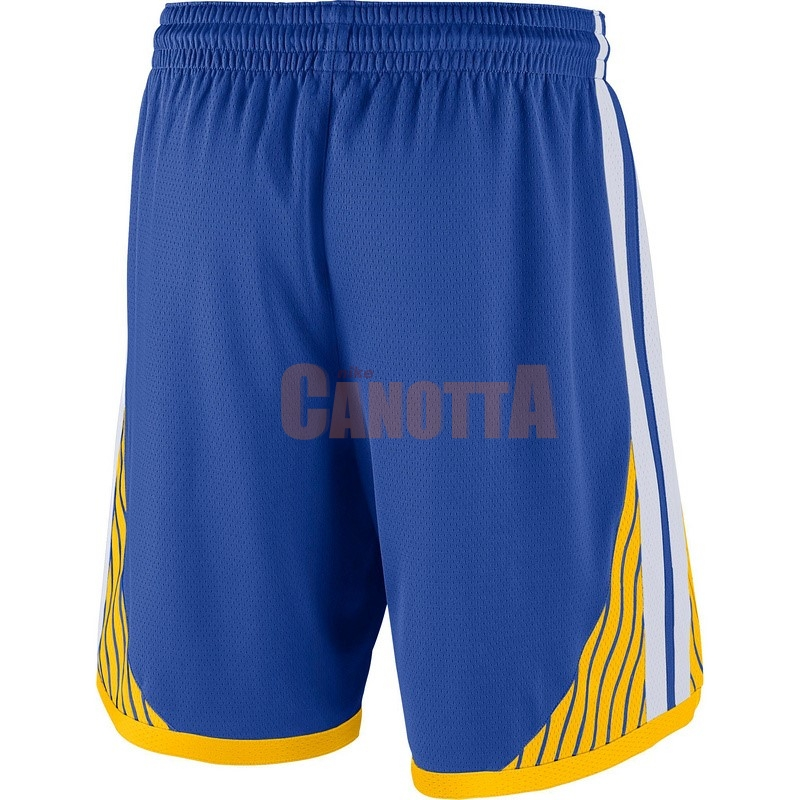 Replica Pantaloni Basket Golden State Warriors Nike Blu