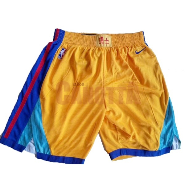92e26e1dd39c60 Replica Pantaloni Basket Golden State Warriors Nike Giallo | Nuove ...