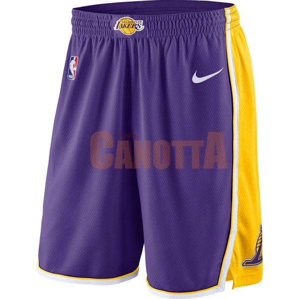 Replica Pantaloni Basket Los Angeles Lakers Nike Porpora