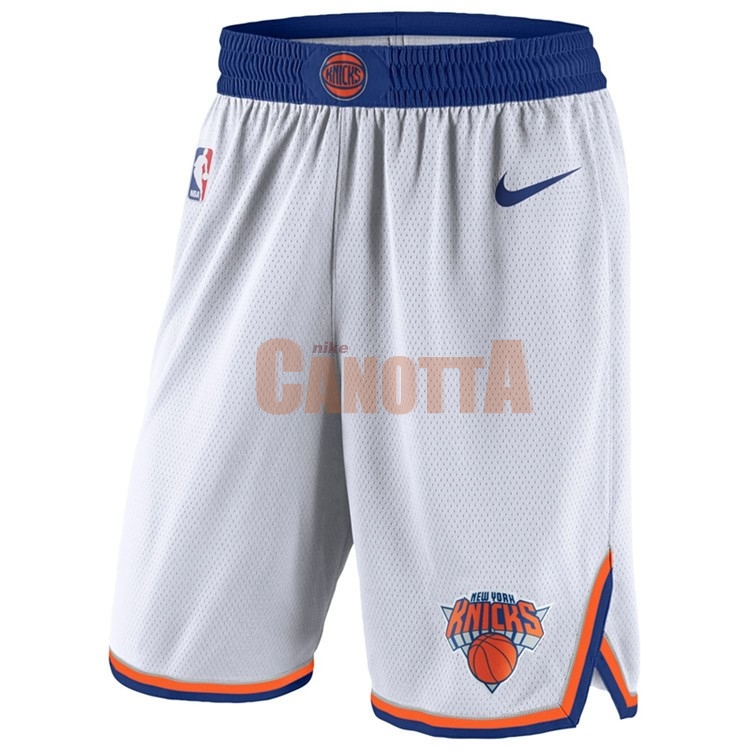 Replica Pantaloni Basket New York Knicks Nike Bianco