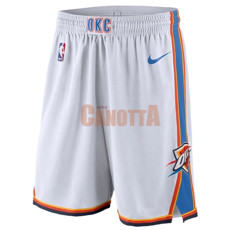 Replica Pantaloni Basket Oklahoma City Thunder Nike Bianco