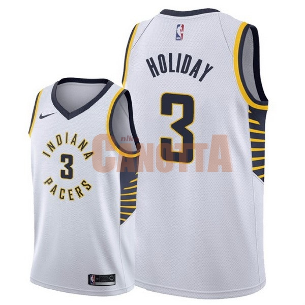 Replica Maglia NBA Nike Indiana Pacers NO.3 Aaron Holiday Bianco Association 2018