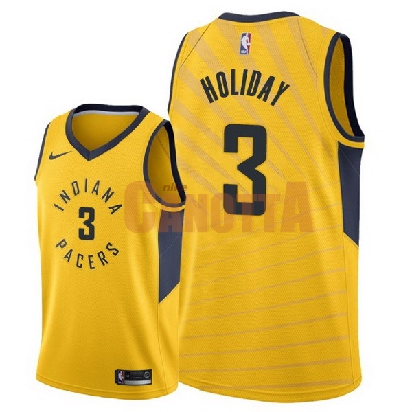 Replica Maglia NBA Nike Indiana Pacers NO.3 Aaron Holiday Giallo Statement 2018