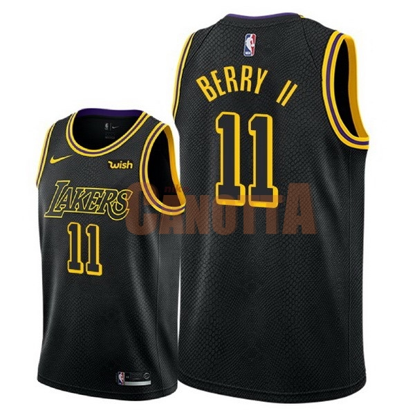 Replica Maglia NBA Nike Los Angeles Lakers NO.11 Joel Berry II Nero Città  2018 0b9f587aa9a9