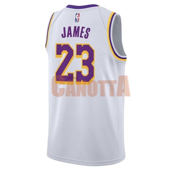 ... Replica Maglia NBA Nike Los Angeles Lakers NO.23 Lebron James Bianco  2018-19 ... 444fea4cf448