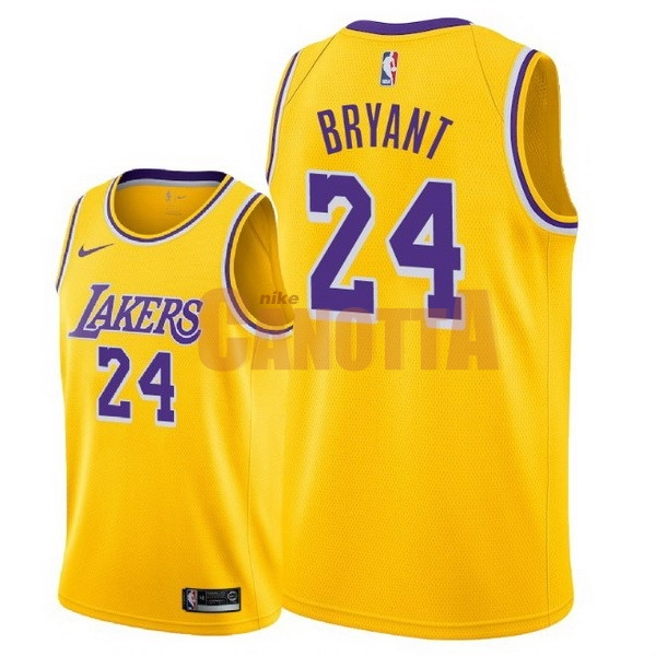 Replica Maglia NBA Nike Los Angeles Lakers NO.24 Kobe Bryant Giallo Icon  2018- c583d94943f8