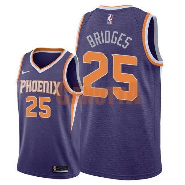 Replica Maglia NBA Nike Phoenix Suns NO.25 Mikal Bridges Porpora Icon 2018