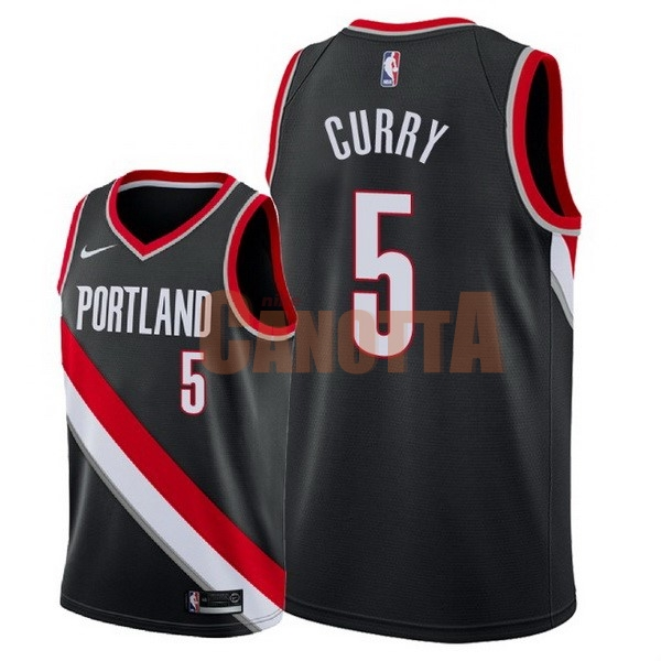 Replica Maglia NBA Nike Portland Trail Blazers NO.5 Seth Curry Nero Icon 2018