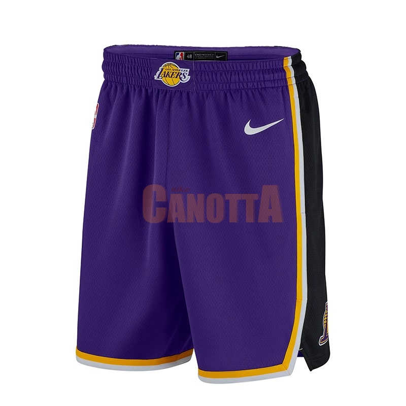 Replica Pantaloni Basket Los Angeles Lakers Nike Porpora 2018-19