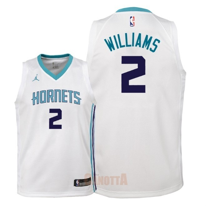 Replica Maglia NBA Bambino Charlotte Hornets NO.2 Marvin Williams Bianco Association 2018