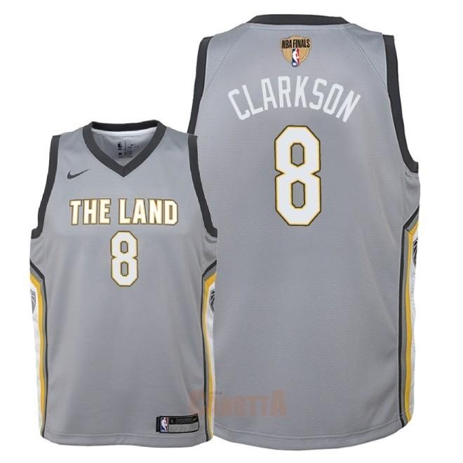 f6b7ebd95 Replica Maglia NBA Bambino Cleveland Cavaliers Finale Campioni 2018 NO.8  Jordan Clarkson Nike Grigio