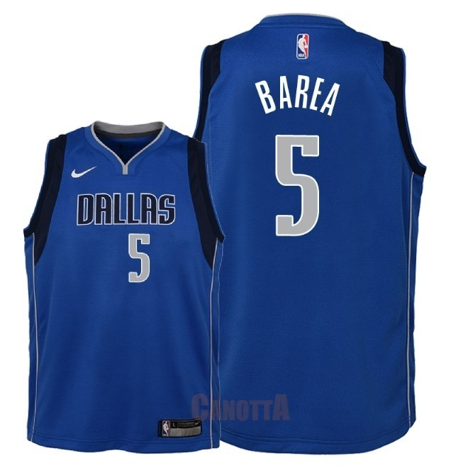 Replica Maglia NBA Bambino Dallas Mavericks NO.5 J.J. Barea Blu Icon 2018