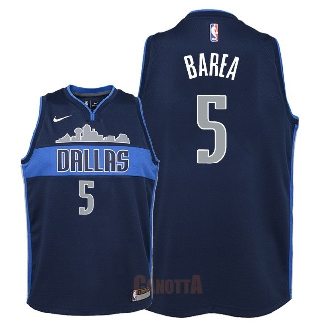 Replica Maglia NBA Bambino Dallas Mavericks NO.5 J.J. Barea Nero Statement 2018