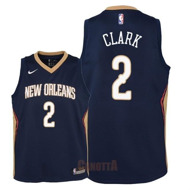 Replica Maglia NBA Bambino New Orleans Pelicans NO.2 Ian Clark Marino Icon  2018 49e7c59c9383
