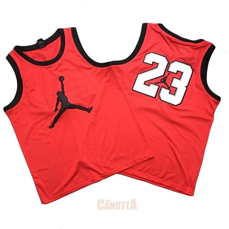 6e9ee2f53b77d Replica Maglia NBA Chicago Bulls NO.23 Michael Jordan Jordan Logo Rosso